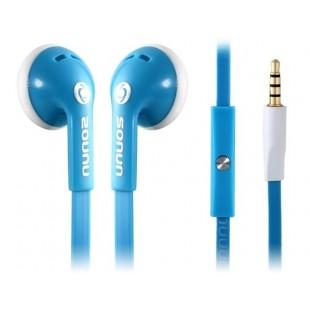 SONUN 3,5 мм разъем наушники-вкладыши Наушники с микрофоном (синий)