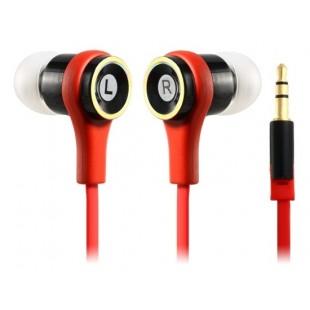 СМЗ 610 Плоский кабель наушники-вкладыши для мобильный 5, Ipod Touch 5, Ipod Nano 7, Iphone 4 / 4S, Ipad 4 (красный)