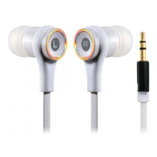 СМЗ 610 Плоский кабель наушники-вкладыши для мобильный 5, Ipod Touch 5, Ipod Nano 7, Iphone 4 / 4S, Ipad 4 (белый)