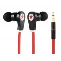 Купить Звезда Pattern разъем 3,5 мм наушники-вкладыши Стиль наушники с 1,2 м плоский кабель (Красный)