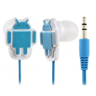 AZ-300 Стильный Робот Дизайн проводной наушники-вкладыши (синий)