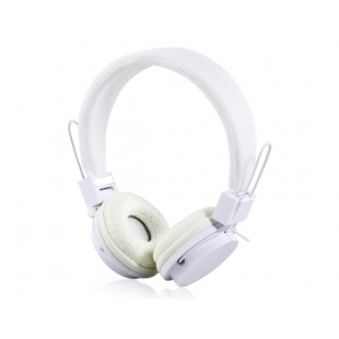 EX09i Красочные Складной 3,5 мм разъем проводной наушники с микрофоном (белый)