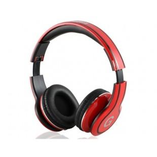 GENIPU ВНП-8805 3,5 мм на ухо Складные наушники с микрофоном (красный)