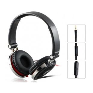 Beevo BV-HM700 3.5 мм на ухо Складные наушники с микрофоном и 1,25 м кабель (черный)