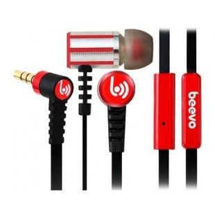 Биво БВ-EM230 3,5 мм наушники-вкладыши металла наушники с микрофоном и усилителем; 1,25 м кабель (Красный)