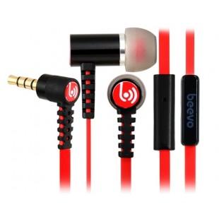 Биво БВ-EM210 3,5 мм наушники-вкладыши металла наушники с микрофоном и усилителем; 1,25 м кабель (черный)