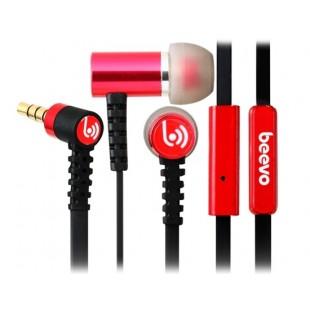 Биво БВ-EM210 3,5 мм наушники-вкладыши металла наушники с микрофоном и усилителем; 1,25 м кабель (Красный)