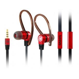 Биво быть-EM200 3,5 мм штекер стерео вкладыши Подвеска наушники с микрофоном, с креплением-крючком &амп; 1,25 м кабель (черный)