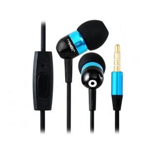 ЖСМ А8 3,5 мм наушники-вкладыши наушники с микрофоном и усилителем; 1,2 м кабель (синий)