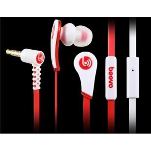Биво БВ-E100 3,5 мм наушники-вкладыши наушники с микрофоном и усилителем; 1,25 м кабель (Красный)