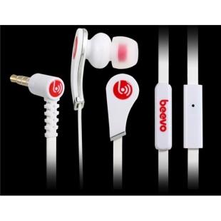 Биво БВ-E100 3,5 мм наушники-вкладыши наушники с микрофоном и усилителем; 1,25 м кабель (Белый)