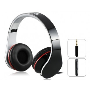 Звук ИНТОНИРОВАТЬ i50 3,5 м стерео наушники с микрофоном &амп; 1,5 м плоский кабель (черный)