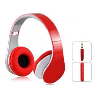 SOUND интонировать i50 3,5 м Подключите Складные наушники с микрофоном и 1,5 м плоский кабель (красный)