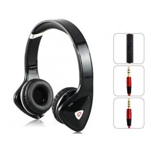 Genipu ВНП-8890 3,5 мм на ухо складные наушники супер бас с микрофоном для MP3-плеер, сотовый телефон, ПК (черный)