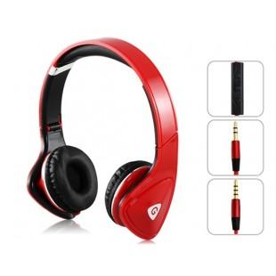 GENIPU ВНП 8890 3,5 мм на ухо Складная Super Bass Наушники с микрофоном для MP3-плеер, сотовый телефон, компьютер (красный)