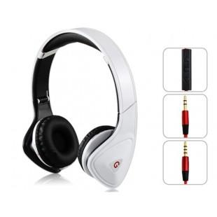 GENIPU ВНП-8890 3,5 мм В-уха Складная Super Bass Наушники с микрофоном для MP3-плеер, сотовый телефон, ПК (белый)