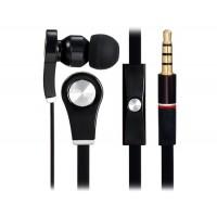 Купить Разъем 3,5 мм наушники-вкладыши стерео наушники с микрофоном &амп; 1.1 м плоский кабель (черный)