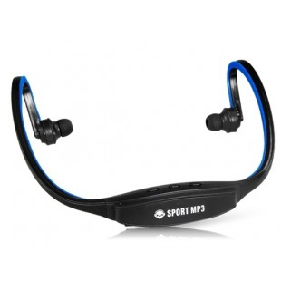 507 Беспроводные Спорт Тренажерный зал Запуск гарнитура наушники MP3-плеер Поддержка TF Card & FM Radio (синий)