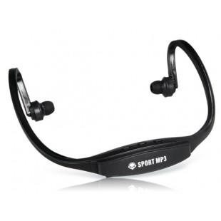 507 Беспроводные Спорт Тренажерный зал Запуск гарнитура наушники MP3-плеер Поддержка TF Card Reader (черный)