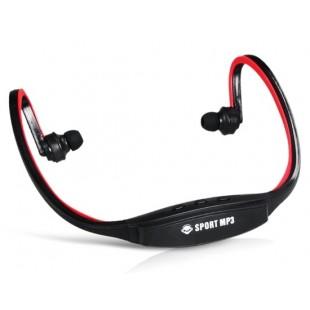 507 Беспроводные Спорт Тренажерный зал Запуск гарнитура наушники MP3-плеер Поддержка TF Card Reader (красный)