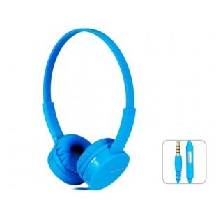 Kanen IP-600 разъем 3,5 мм стерео-вкладыши гарнитура наушники с микрофоном (синий)