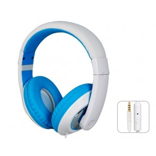 SOIN HD-680 разъем 3,5 мм стерео-вкладыши гарнитура наушники с микрофоном и 1,5 м кабель (синий)