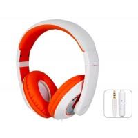 SOIN HD-680 разъем 3,5 мм стерео-вкладыши гарнитура наушники с микрофоном и 1,5 м кабель (оранжевый)