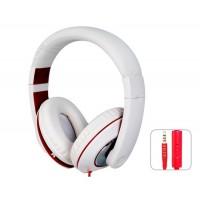 SOIN HD-680 разъем 3,5 мм стерео-вкладыши гарнитура наушники с микрофоном и 1,5 м кабель (белый)