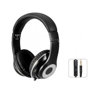 Kanen IP-980 3,5 мм золочение зажигания HiFi Stereo На ухе гарнитура наушники с микрофоном (черный)