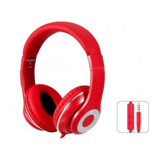Kanen IP-980 3,5 мм золочение зажигания HiFi Stereo На ухе гарнитура наушники с микрофоном (красный)