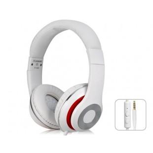 Kanen IP-980 3,5 мм золочение зажигания HiFi Stereo На ухе гарнитура наушники с микрофоном (белый)