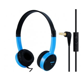 Keenion КДМ-400 3,5 мм на ухо стерео наушники с микрофоном &амп; 1,2 м кабель (синий)