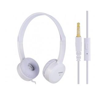 Keenion КДМ-400 3,5 мм на ухо стерео наушники с микрофоном &амп; 1,2 м кабель (Белый)