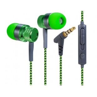 Компьютерные гаджеты kanen 3,5 мм наушники-вкладыши стерео наушники с микрофоном &амп; 1,2 м кабель (зеленый)