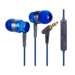 Компьютерные гаджеты kanen 3,5 мм наушники-вкладыши стерео наушники с микрофоном &амп; 1,2 м кабель (синий)