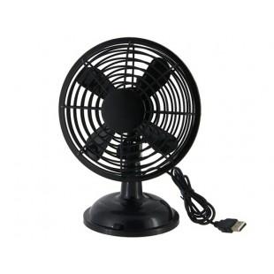 360 градусов Поворотный 5V 2-Режим USB Мини Clip Fan (черный)