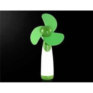 Батарейках Ручной мини вентилятор (зеленый)