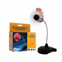 Купить Программируемый LED Сообщение USB вентилятор (черный)