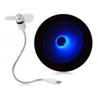 Купить HK-F2009 Blue Light Mini USB-вентилятор (серебро)