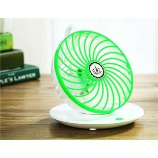 Креативный дизайн кофейной чашки висит вращающийся USB-вентилятор (зеленый)