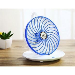 Креативный дизайн кофейной чашки висит вращающийся USB-вентилятор (синий)