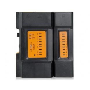CY-468A RJ45+RJ11 сетевой LAN  кабельный тестер (черный+оранжевый)