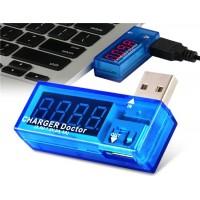 USB мини зарядное устройство Доктор текущей инструмент испытания Напряжение испытания инструмента amp Вольт-ридер (синий)