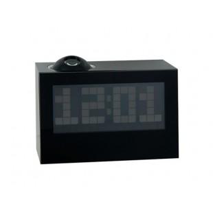Мода многофункциональных Широкий Проектор Экран LED Будильник (черный)