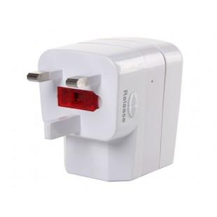 Функциональная GSM Великобритания Plug адаптер монитор (белый)