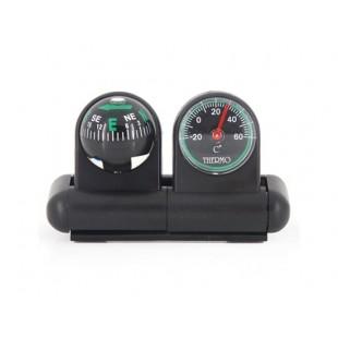 Шаровый Компас и термометр (черный)