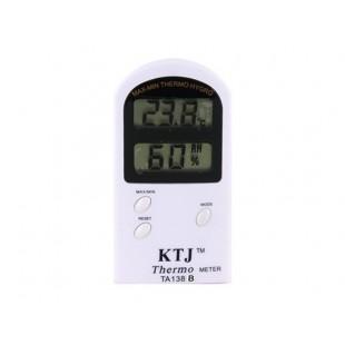 Крытый термометр с гигрометром (белый)
