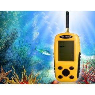 XF-03 матричный ЖК-экран эхолота Fish Finder с Температура & Глубина воды-Дисплей (желтый)