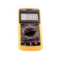 9205 ЖК-экран цифровой мультиметр Volt омметр амперметра (оранжевый)