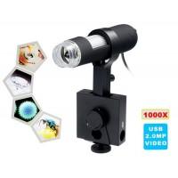 1000x увеличение Цифровой USB-микроскоп